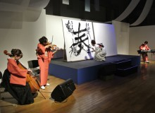 2013.7.2 東レシルック50周年記念イベント Performance (collaboration with string trio) for the 50th anniversary of  東レシルック (kimono fashioning shop)