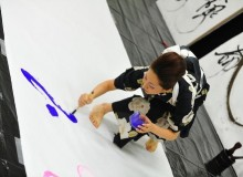 2012.7.22 天橋立教室 書作展 Performance during calligraphy exhibition – Amanoashidate, Kyoto prefecture