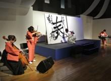 2013.7.2 東レシルック50周年記念イベント Performance (collaboration with string trio) for the 50th anniversary of  東レシルック (kimono fashioning shop)